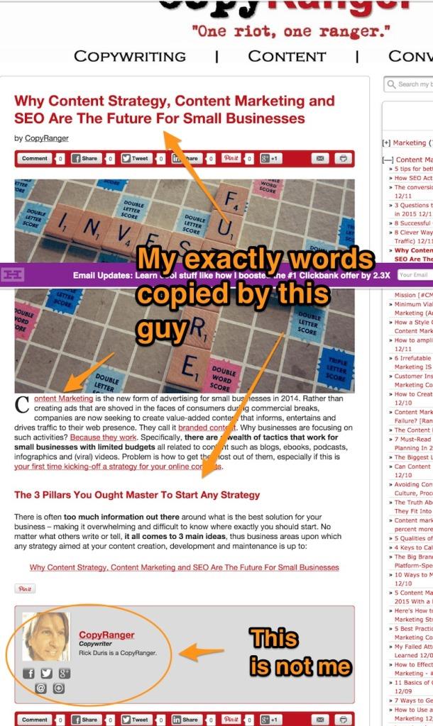 copyranger copying content from matteoduo.com