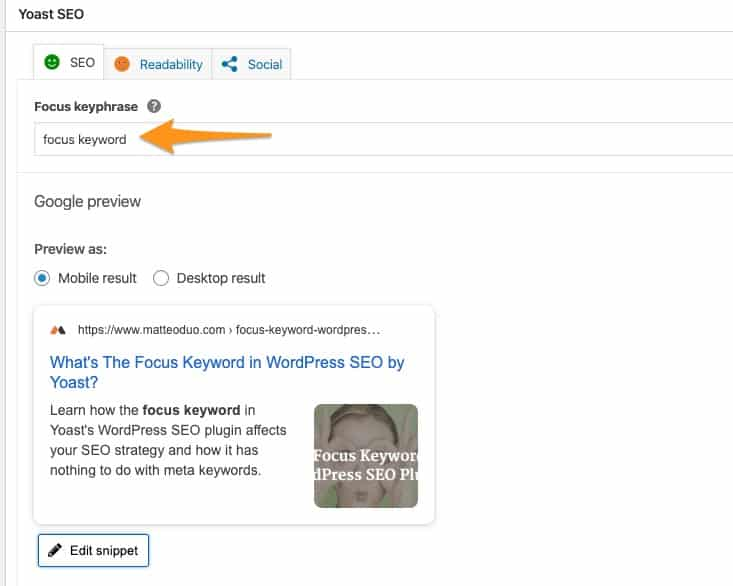 What S The Focus Keyword In Yoast Seo Plugin And How To Use It