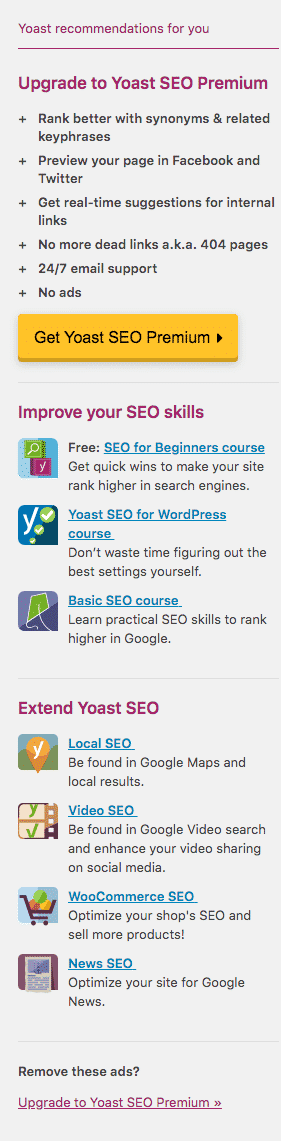 yoast-recommendations