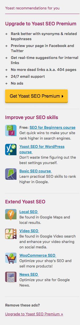 yoast-recommendations